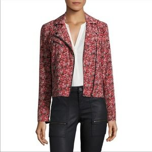 Joie frona pink floral Moto jacket small